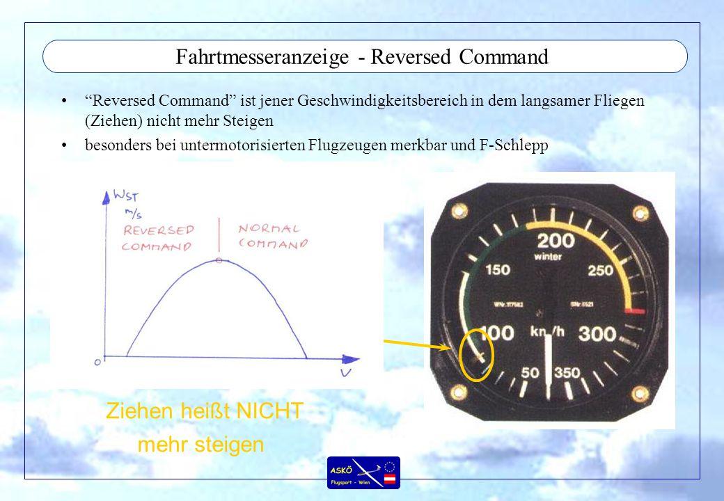 Fahrtmesseranzeige - Reversed Command