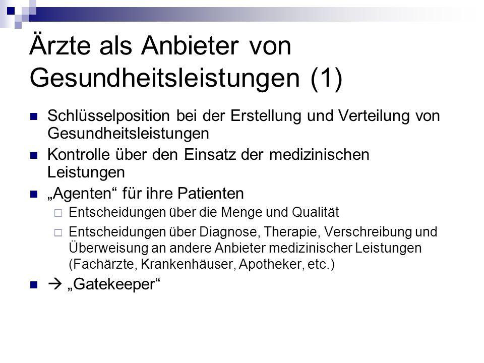 Ärzte als Anbieter von Gesundheitsleistungen (1)