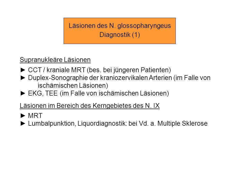 Läsionen des N. glossopharyngeus