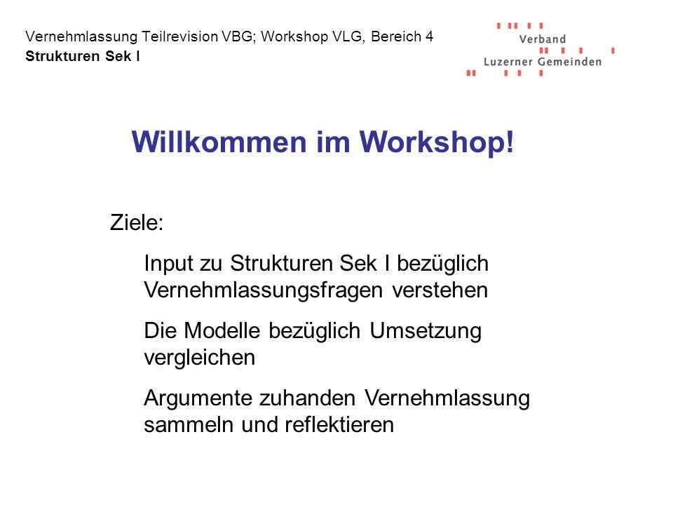 Willkommen im Workshop!