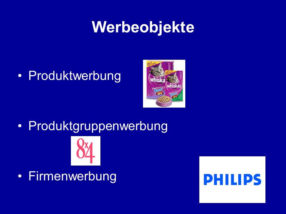 Werbeobjekte Produktwerbung Produktgruppenwerbung Firmenwerbung