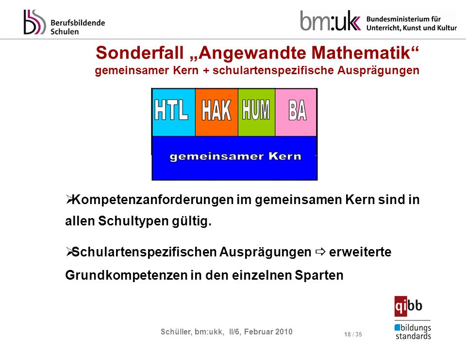 "Sonderfall ""Angewandte Mathematik"