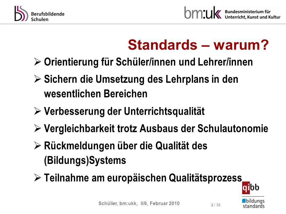 Standards – warum Orientierung für Schüler/innen und Lehrer/innen