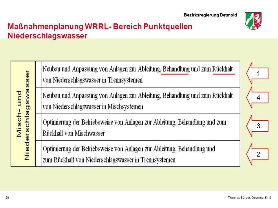 Maßnahmenplanung WRRL- Bereich Punktquellen Niederschlagswasser
