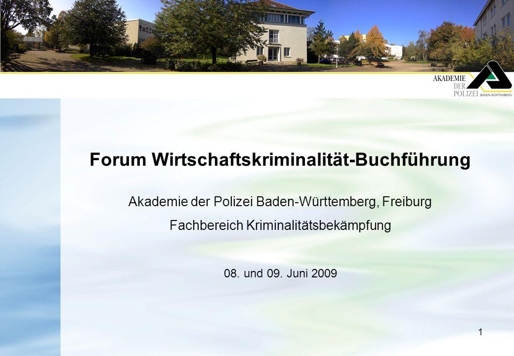 Forum Wirtschaftskriminalität-Buchführung