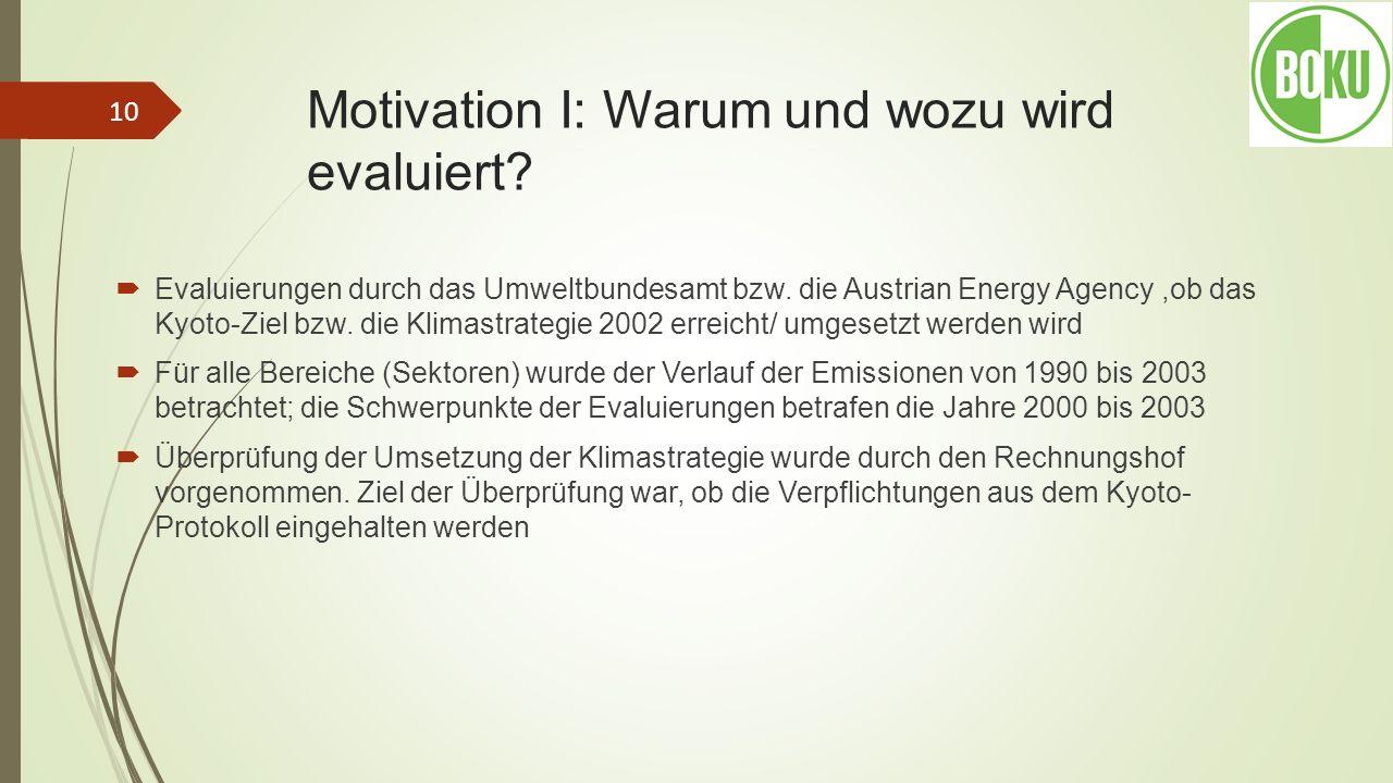 Motivation I: Warum und wozu wird evaluiert