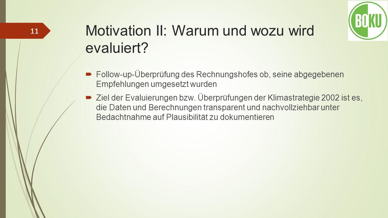 Motivation II: Warum und wozu wird evaluiert