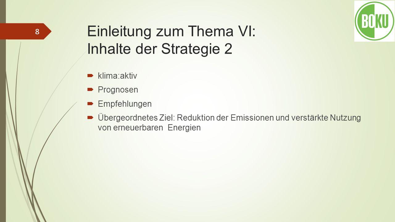 Einleitung zum Thema VI: Inhalte der Strategie 2