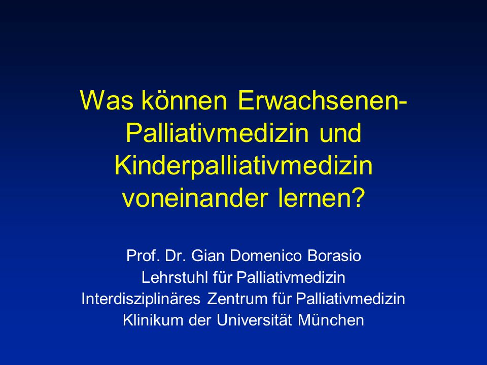 Was können Erwachsenen-Palliativmedizin und Kinderpalliativmedizin voneinander lernen