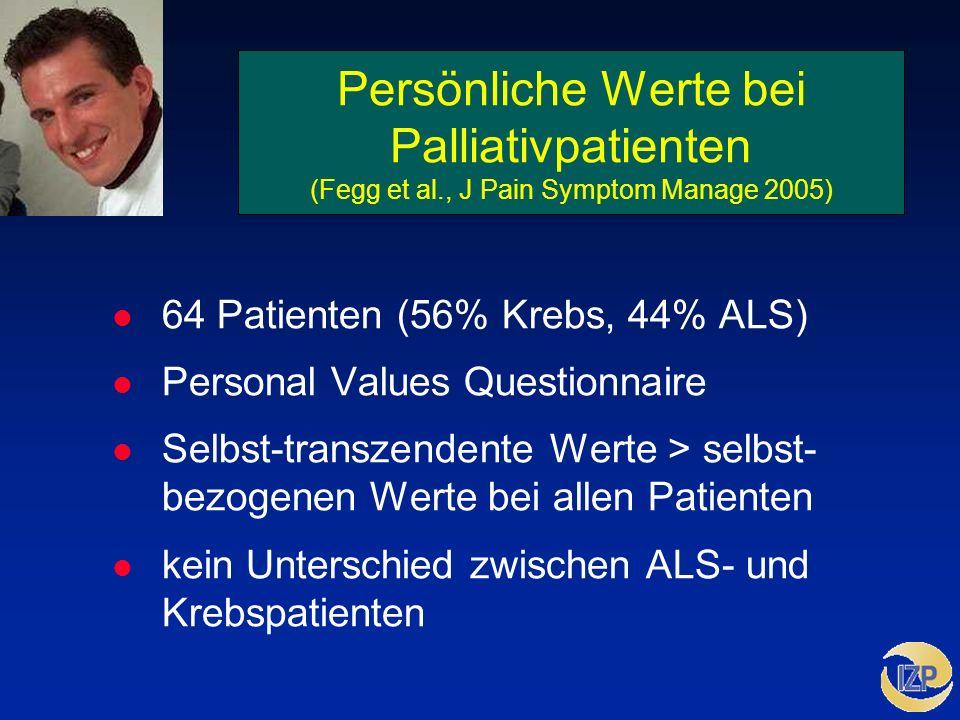 Persönliche Werte bei Palliativpatienten (Fegg et al