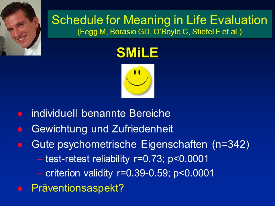 SMiLE Schedule for Meaning in Life Evaluation
