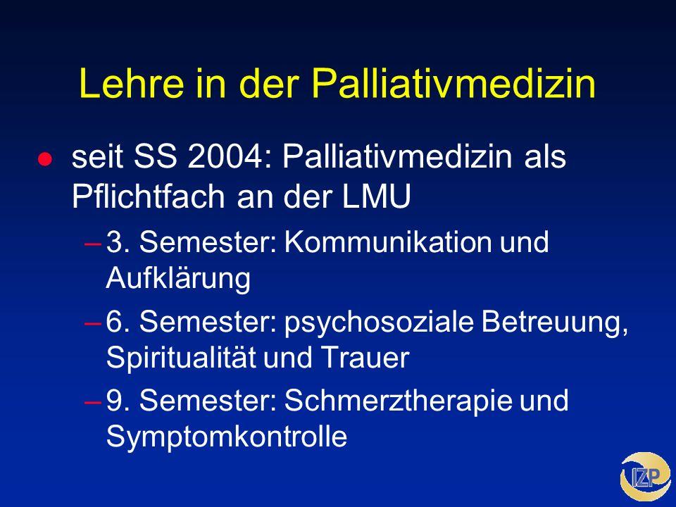 Lehre in der Palliativmedizin