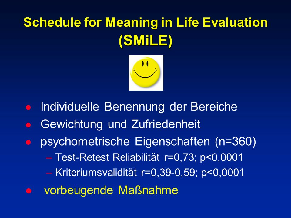 Schedule for Meaning in Life Evaluation