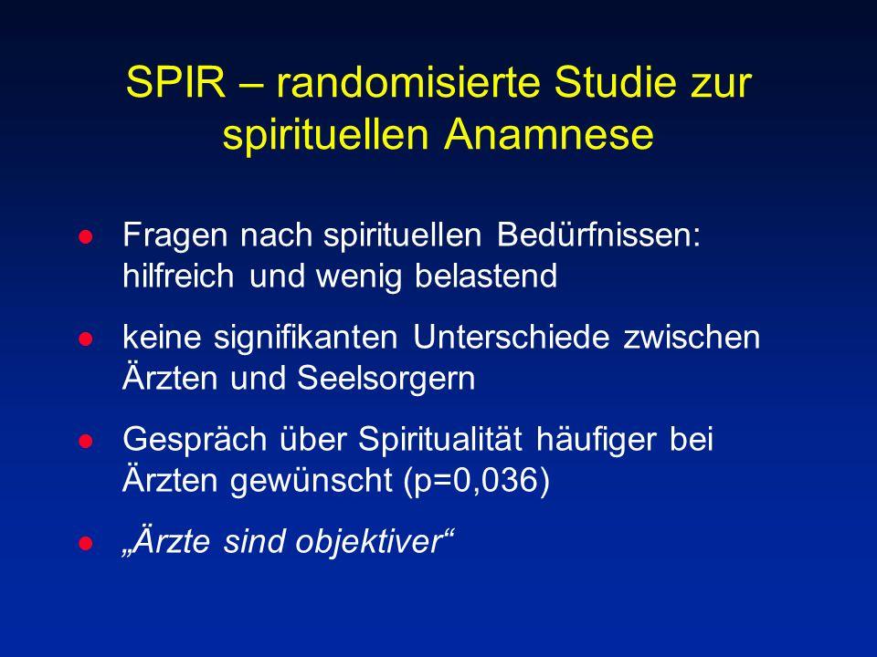 SPIR – randomisierte Studie zur spirituellen Anamnese