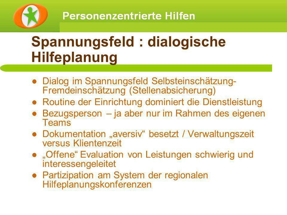 Spannungsfeld : dialogische Hilfeplanung
