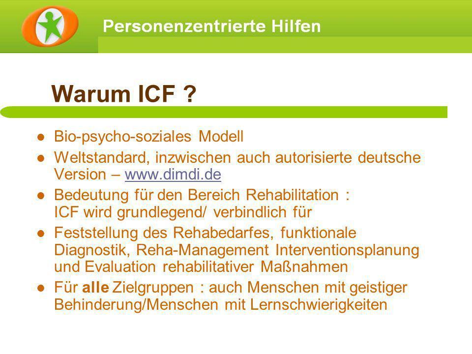Warum ICF Bio-psycho-soziales Modell