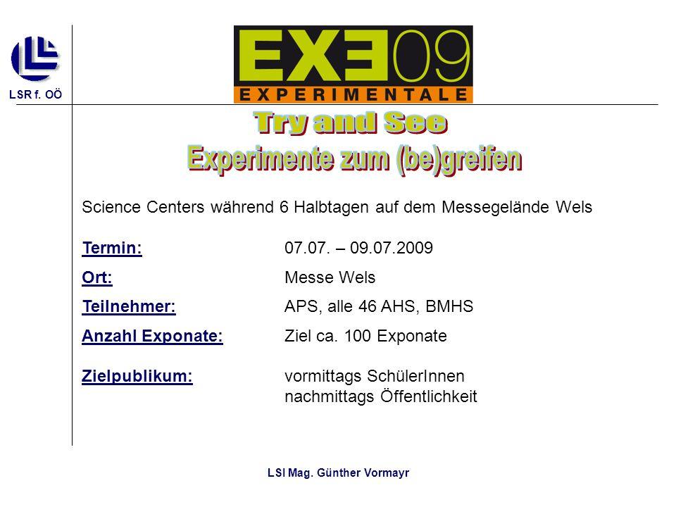 Experimente zum (be)greifen LSI Mag. Günther Vormayr