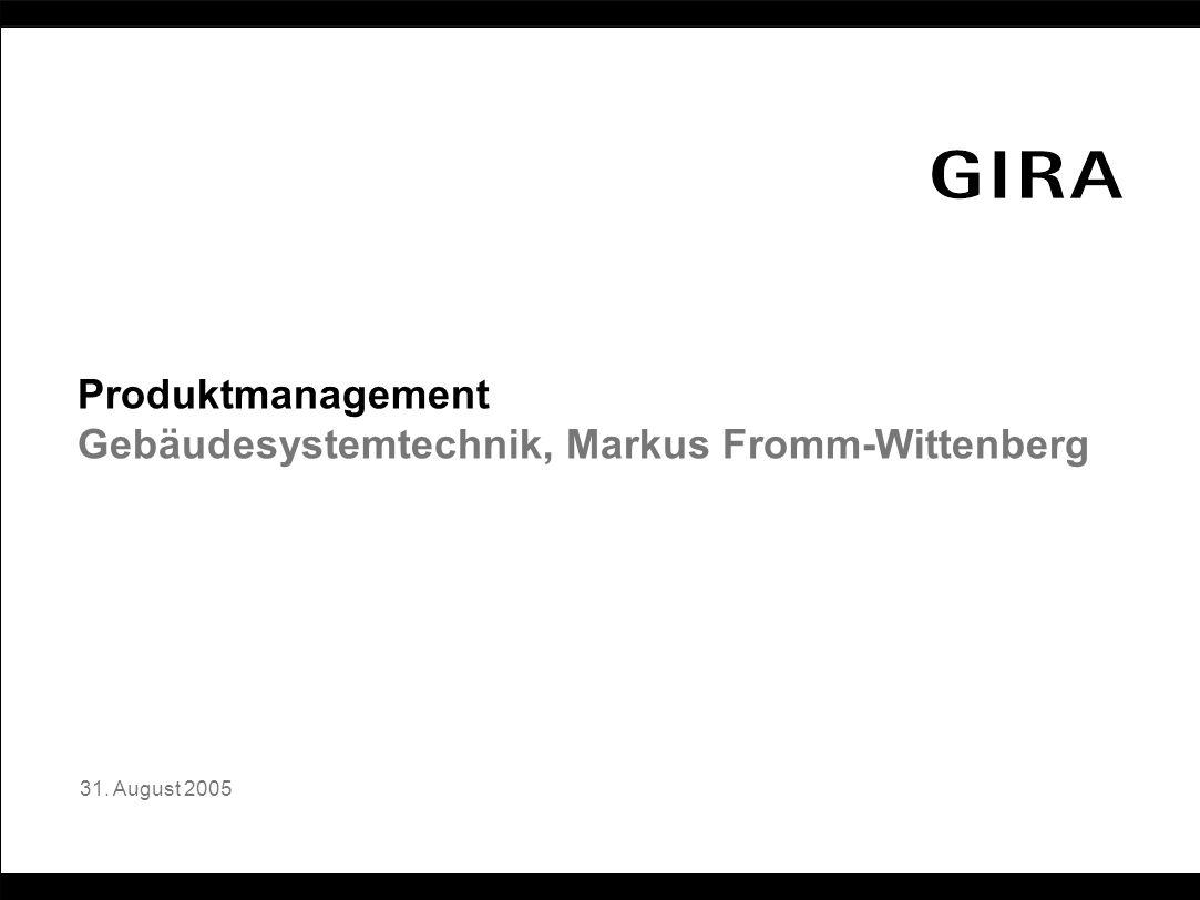 Gebäudesystemtechnik, Markus Fromm-Wittenberg