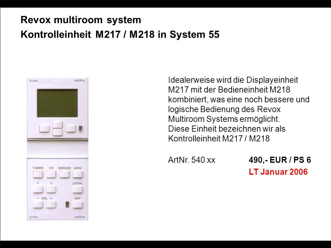Revox multiroom system Kontrolleinheit M217 / M218 in System 55