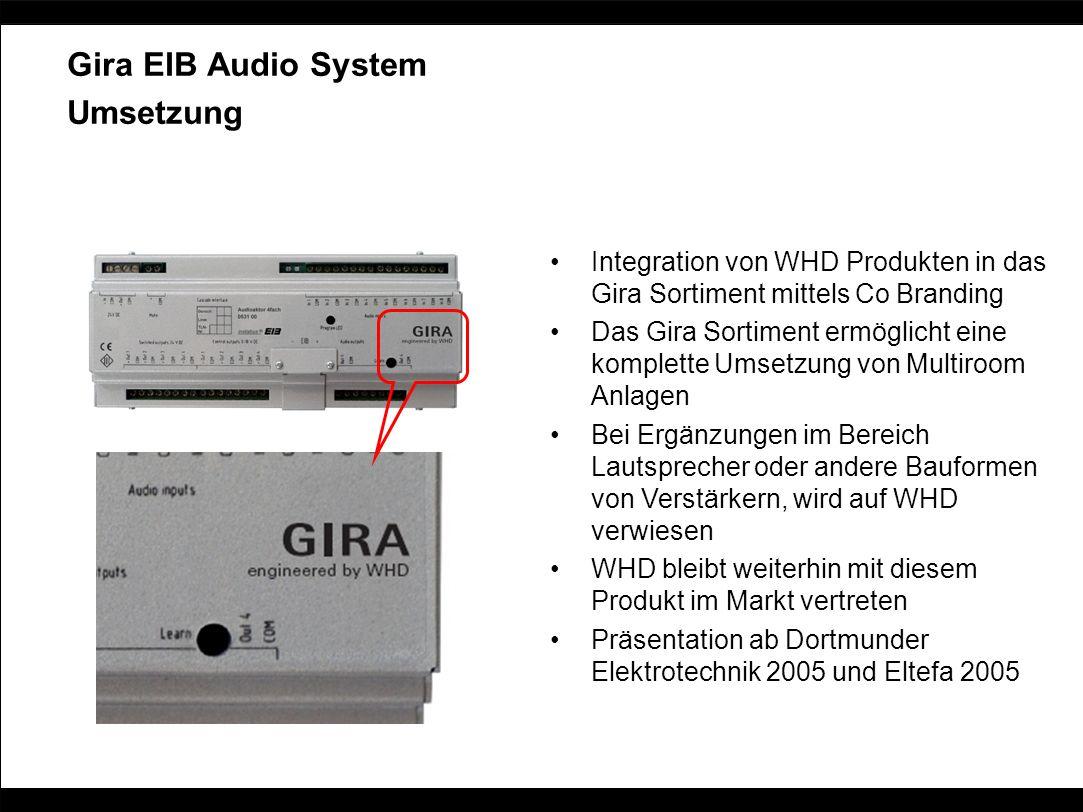 Gira EIB Audio System Umsetzung