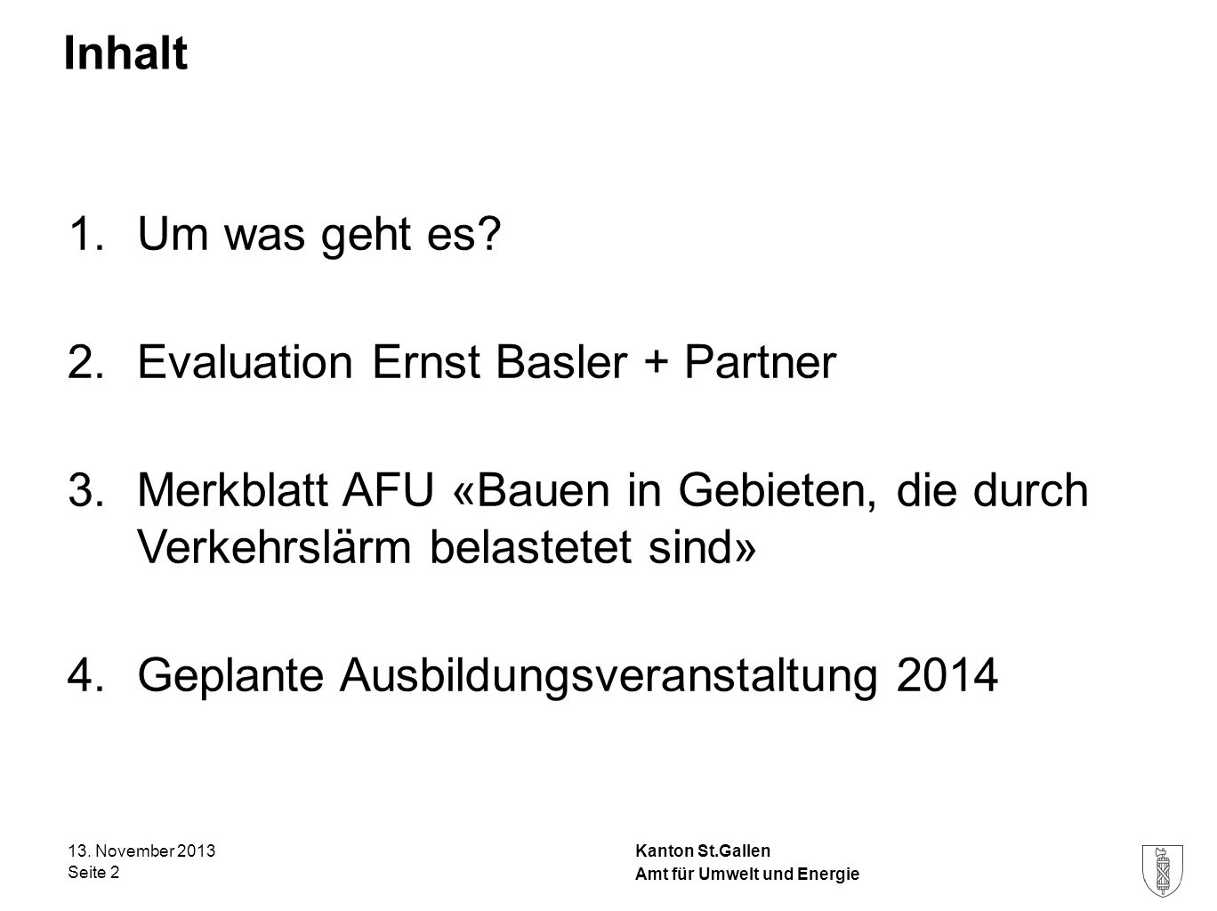 Evaluation Ernst Basler + Partner