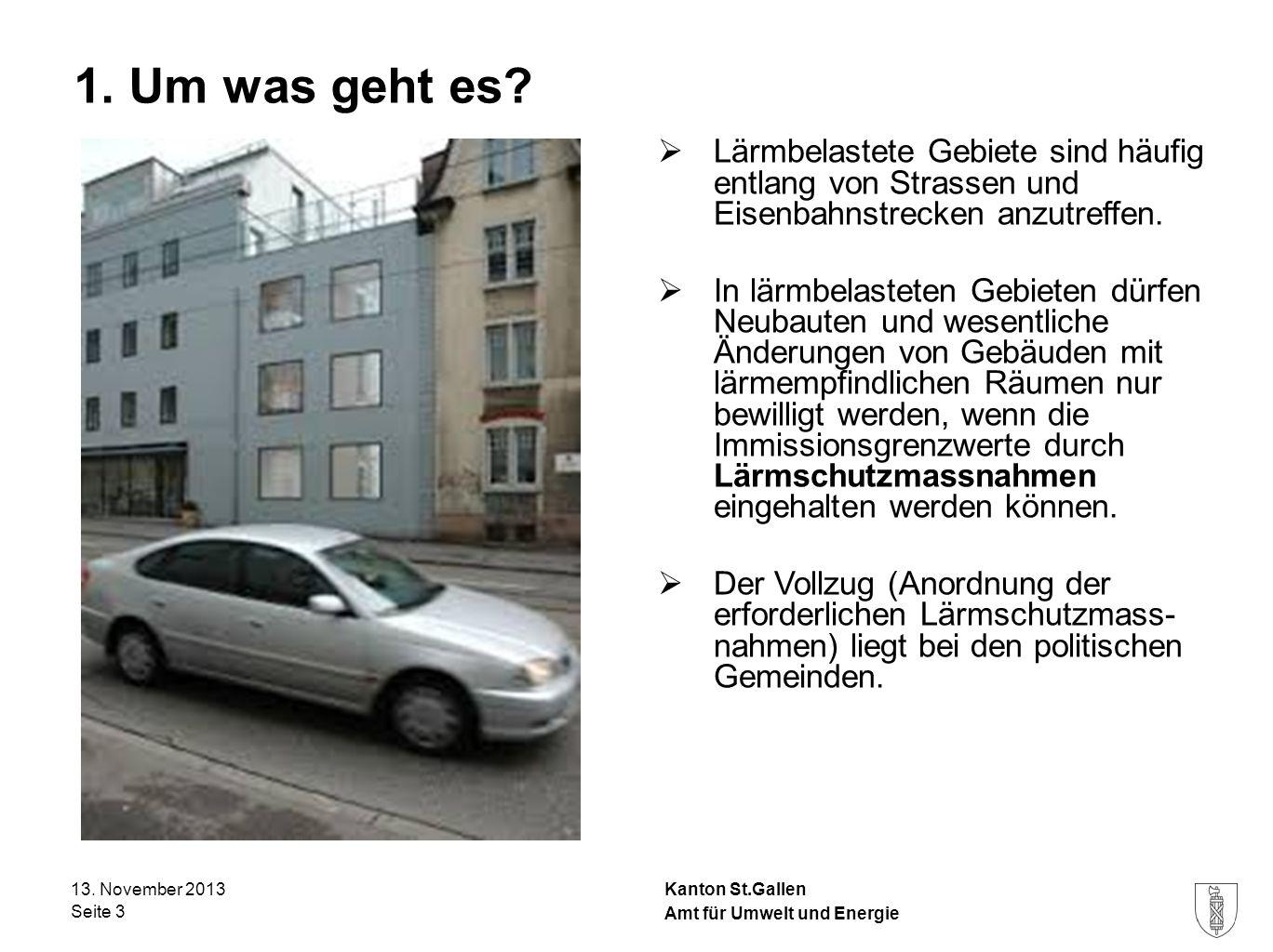1. Um was geht es Lärmbelastete Gebiete sind häufig entlang von Strassen und Eisenbahnstrecken anzutreffen.