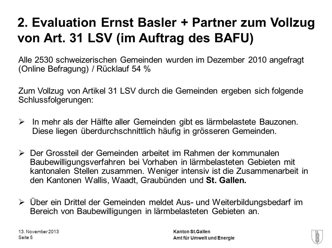 2. Evaluation Ernst Basler + Partner zum Vollzug von Art
