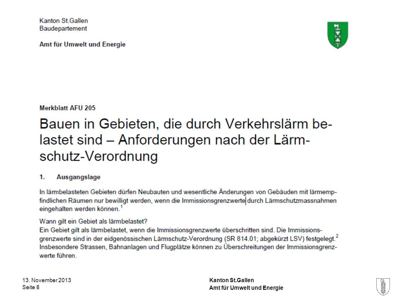 13. November 2013 Amt für Umwelt und Energie