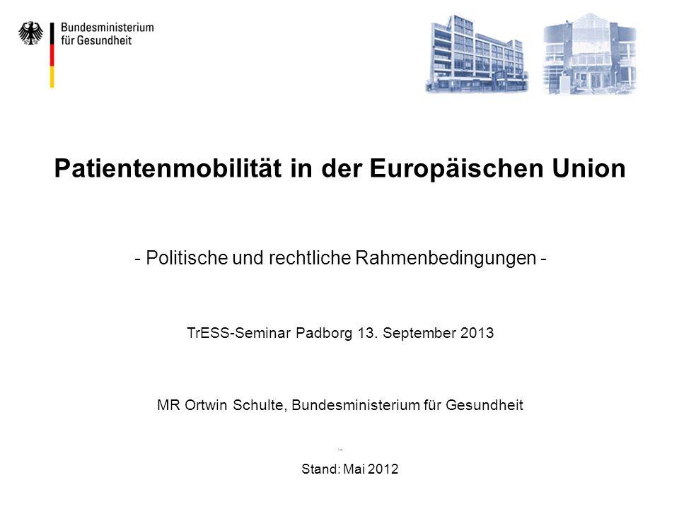 Patientenmobilität in der Europäischen Union