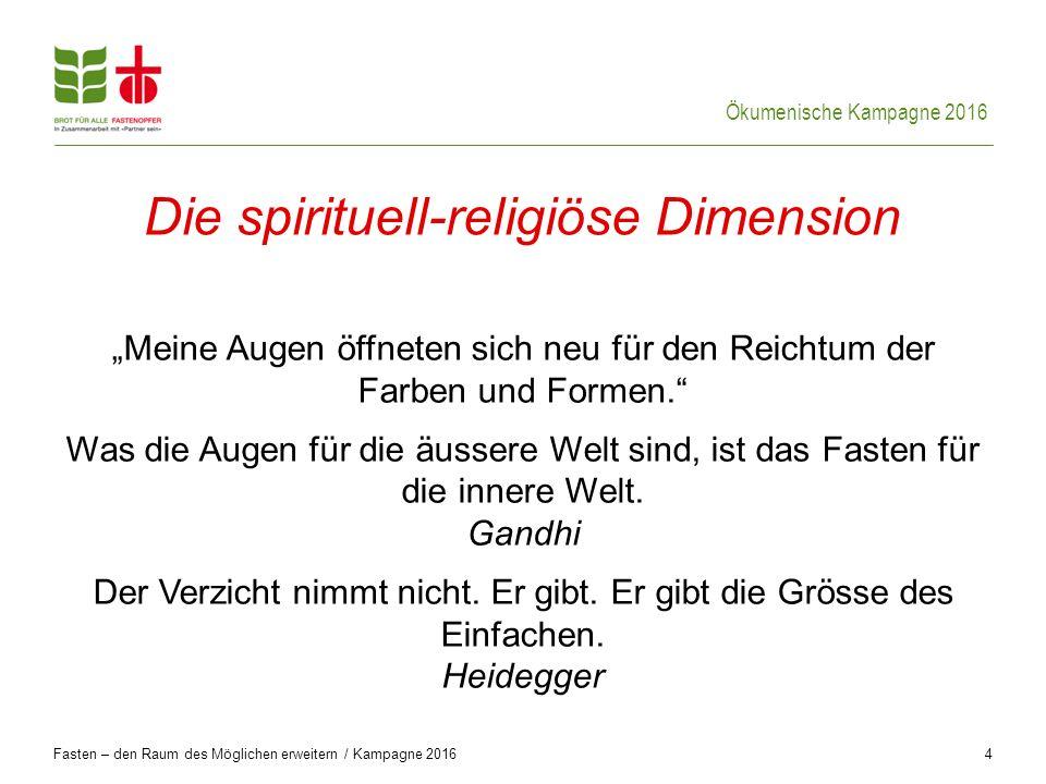 Die spirituell-religiöse Dimension