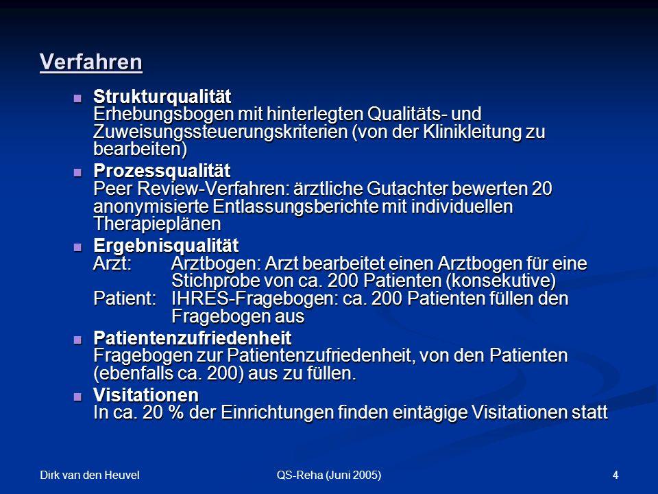 Verfahren Strukturqualität Erhebungsbogen mit hinterlegten Qualitäts- und Zuweisungssteuerungskriterien (von der Klinikleitung zu bearbeiten)