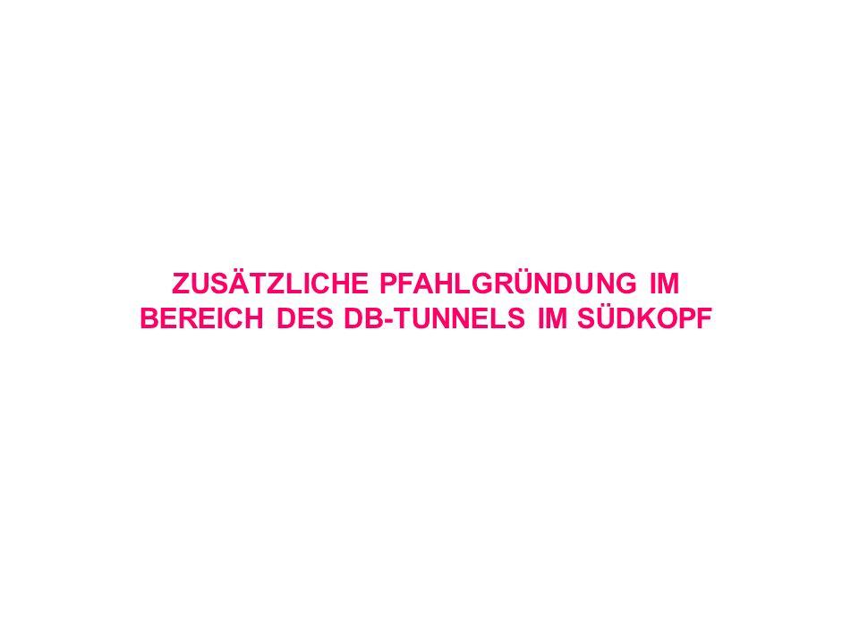 ZUSÄTZLICHE PFAHLGRÜNDUNG IM BEREICH DES DB-TUNNELS IM SÜDKOPF