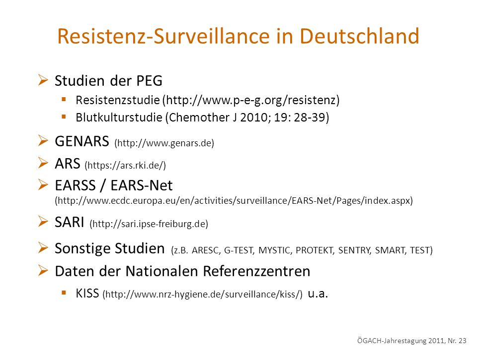 Resistenz-Surveillance in Deutschland