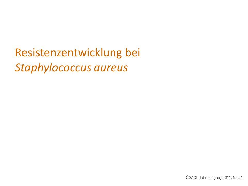 Resistenzentwicklung bei Staphylococcus aureus