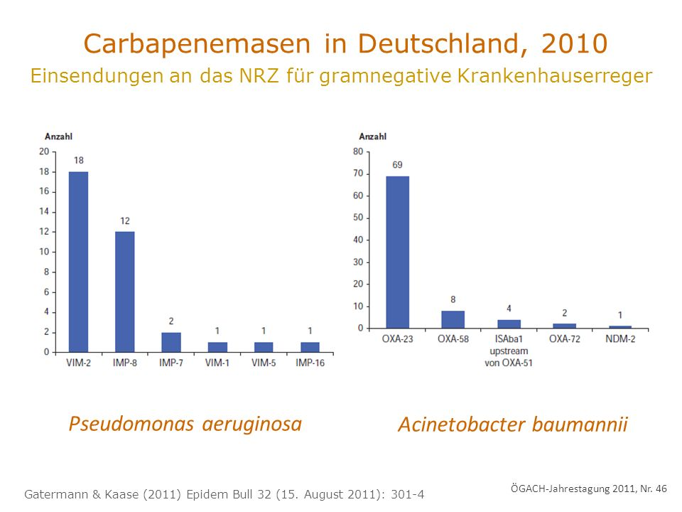 Carbapenemasen in Deutschland, 2010