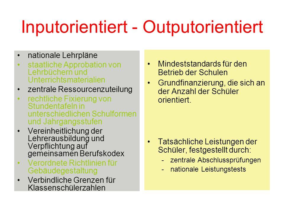 Inputorientiert - Outputorientiert