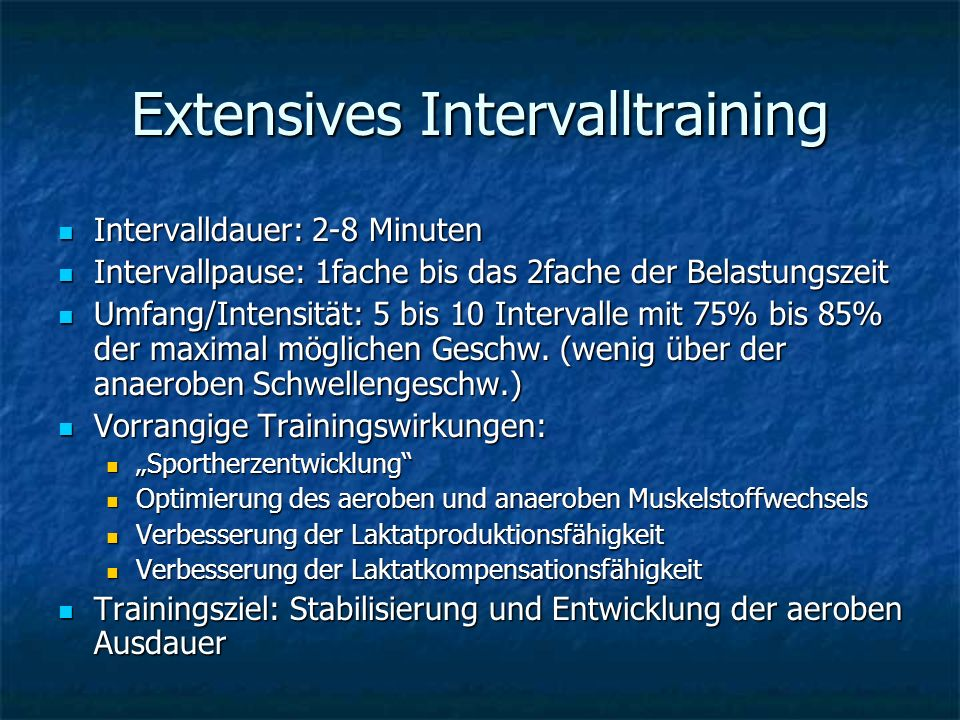Extensives Intervalltraining