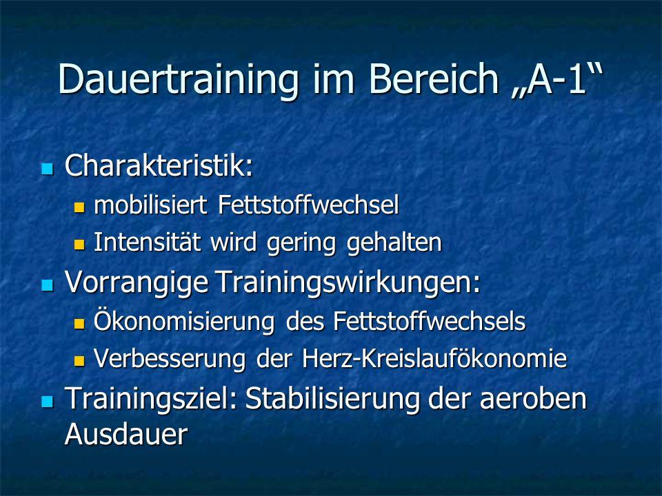 "Dauertraining im Bereich ""A-1"