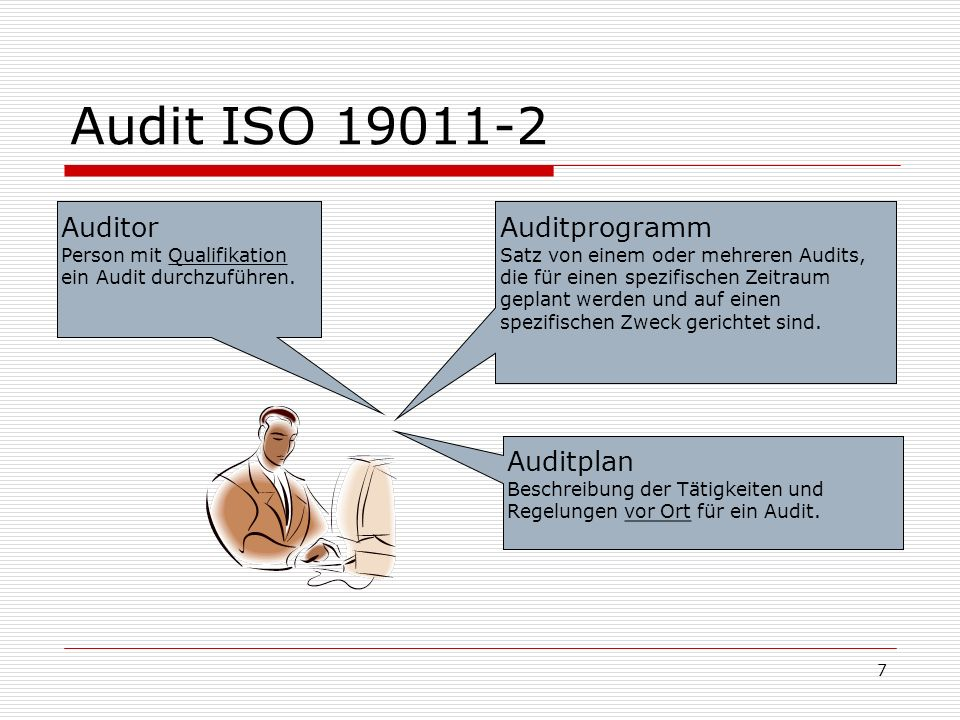Audit ISO 19011-2 Auditprogramm Auditor Auditplan