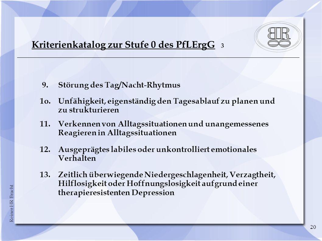 Kriterienkatalog zur Stufe 0 des PfLErgG 3