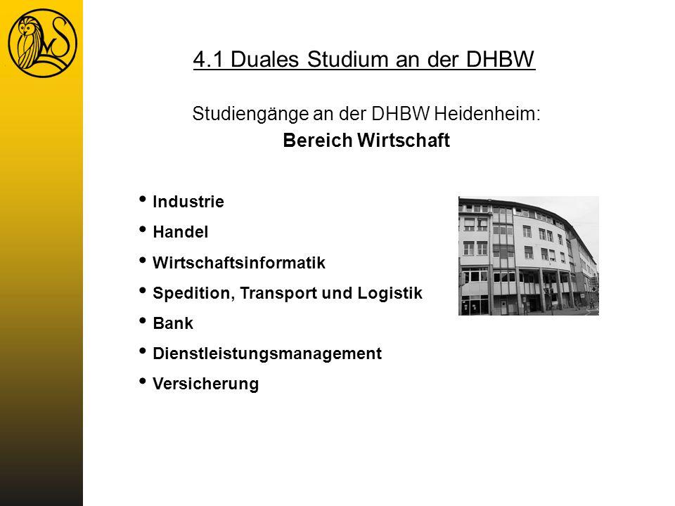 Studiengänge an der DHBW Heidenheim: Bereich Wirtschaft