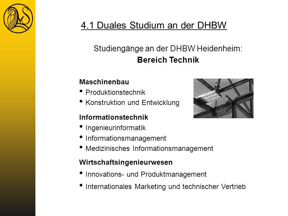 Studiengänge an der DHBW Heidenheim: Bereich Technik