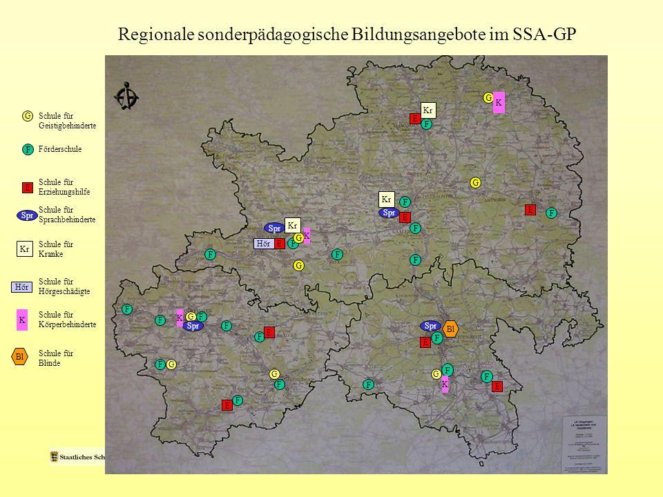 Regionale sonderpädagogische Bildungsangebote im SSA-GP