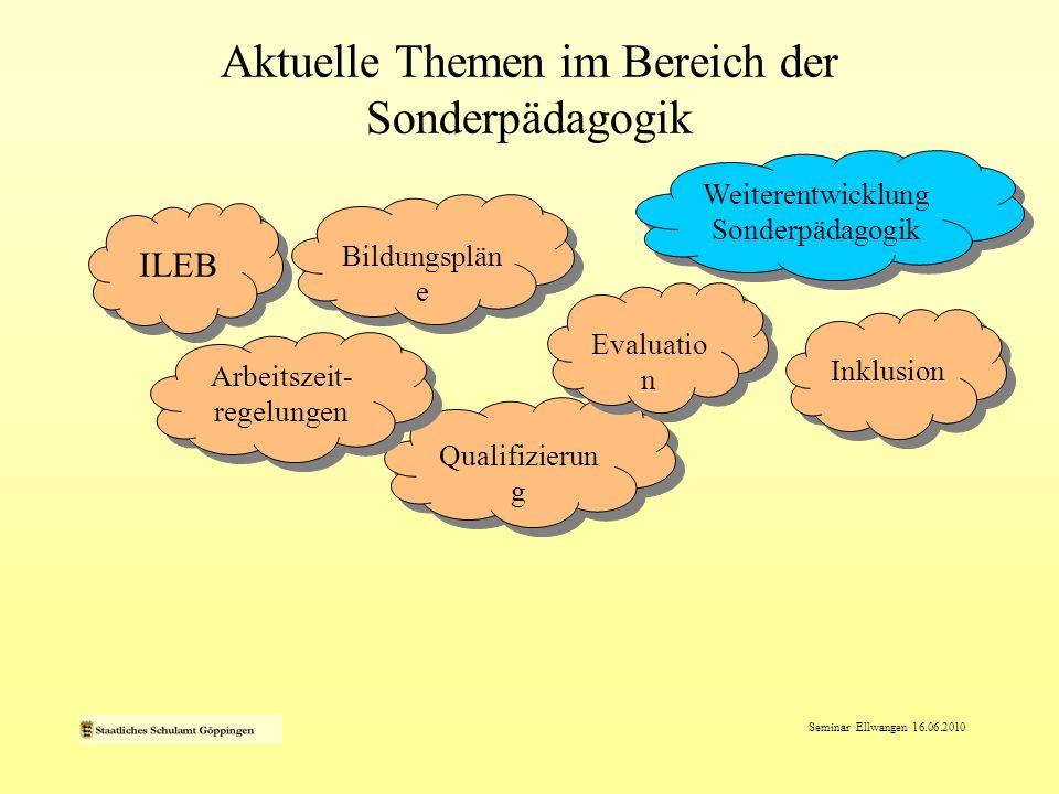 Aktuelle Themen im Bereich der Sonderpädagogik