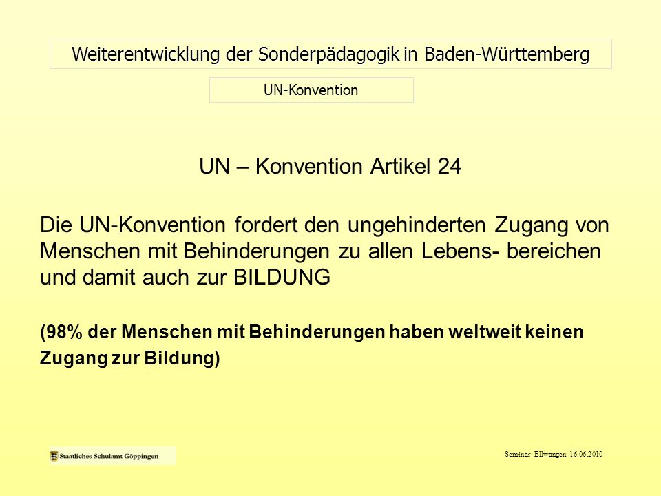 UN – Konvention Artikel 24