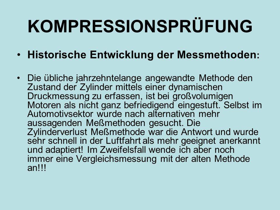 KOMPRESSIONSPRÜFUNG Historische Entwicklung der Messmethoden: