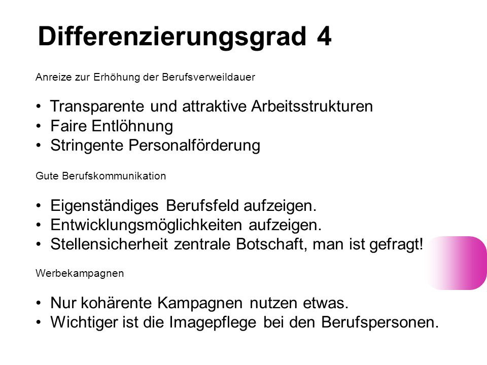 Differenzierungsgrad 4