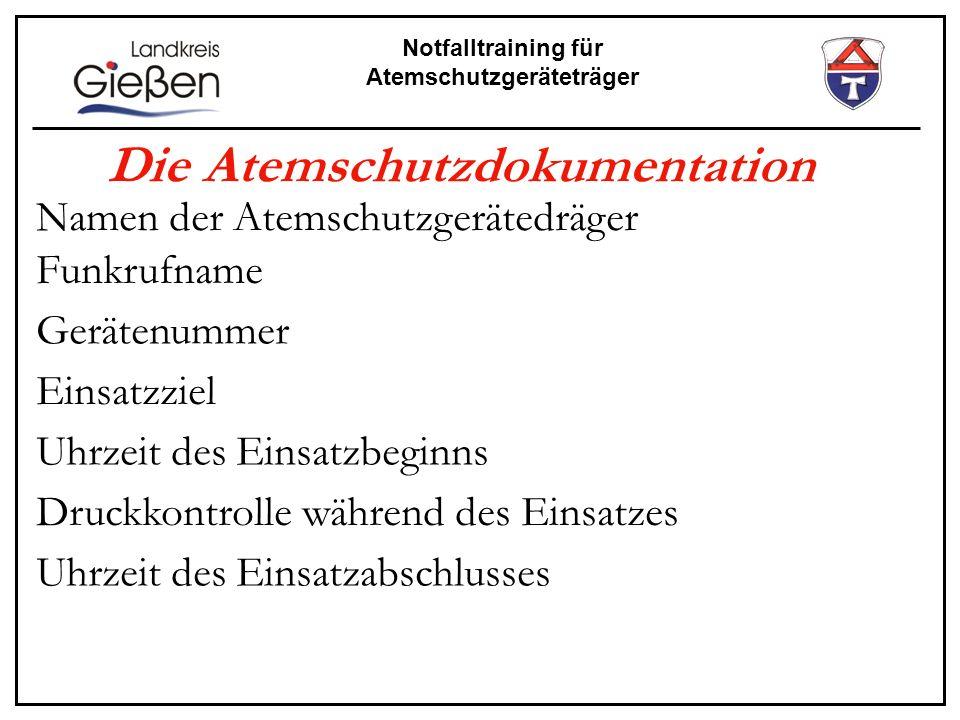 Die Atemschutzdokumentation