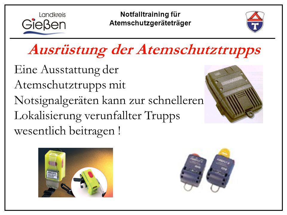 Ausrüstung der Atemschutztrupps