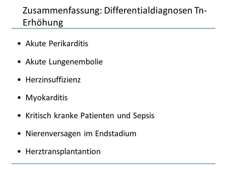Zusammenfassung: Differentialdiagnosen Tn-Erhöhung